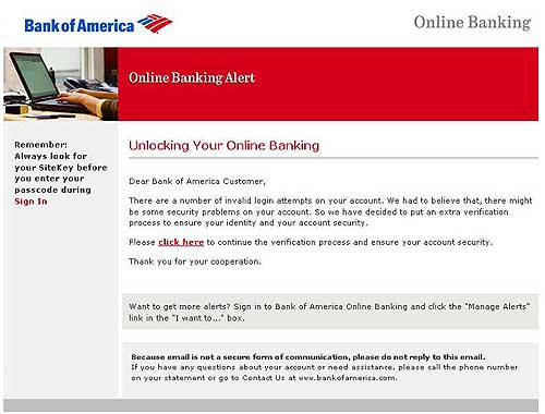 Bank of America site