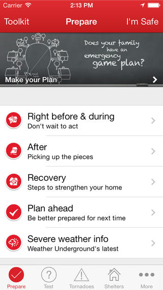 Tornado by American Red Cross and 6 Weather Apps that Could Save Your Life